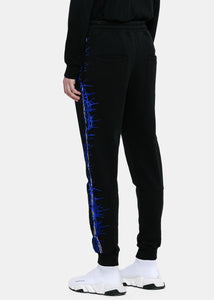 Black Embroidered Sweatpants