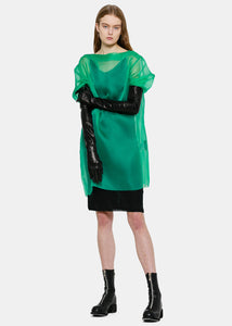 Green Sheer Tunic Blouse