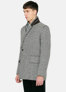 Black & White Herringbone Jacket