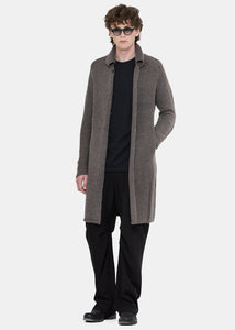 Otter Grey Knit Coat