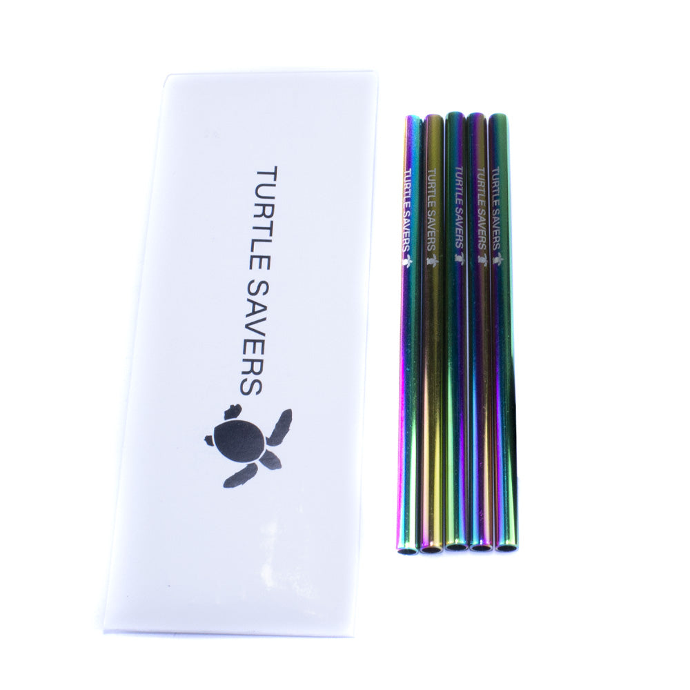 Metal Cocktail Straw Rainbow (5 Pack)