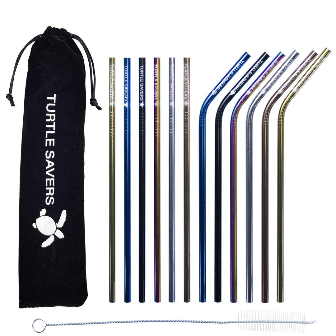 Metal Straws (x12 Pack)