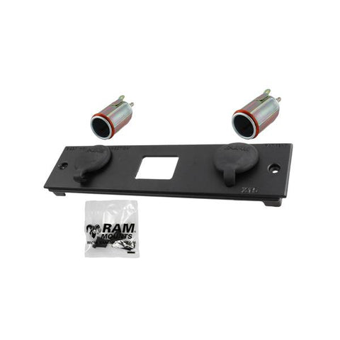X15 RAM Double Female Cig Power Block (RAM-FP2-CIG2-BLOCK) - Mounts Hong Kong - RAM Mounts Hong Kong