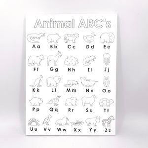 Animal ABC's Canvas