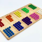 11-20 Counting Board with Wool Balls