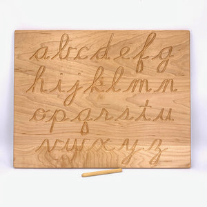 Cursive Alphabet Tracing Board