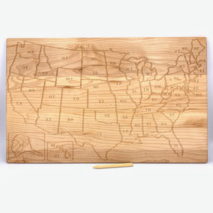 USA and Continents Tracing Board