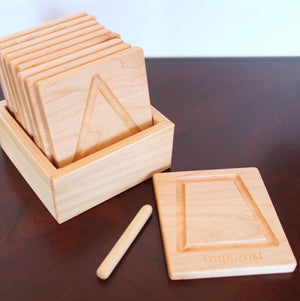 Montessori Shapes Tracing Cards