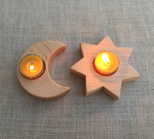 Sun and Moon Candle Holders