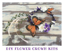Load image into Gallery viewer, Make your own flower crown - DIY flower crown kit