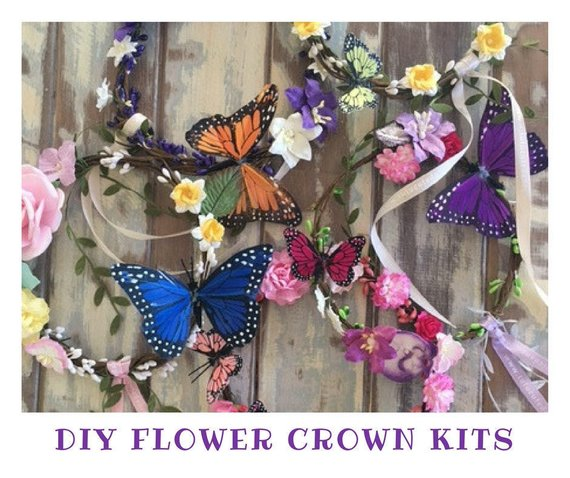 DIY FLOWER CROWN KIT x10