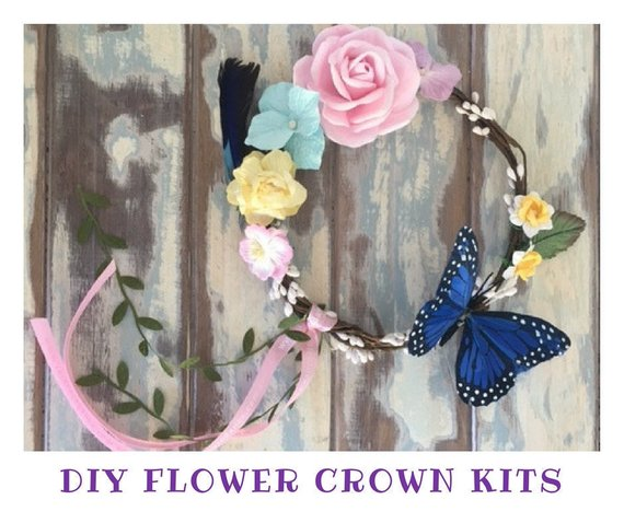 Make Your Own Flower Crown Diy Flower Crown Kit