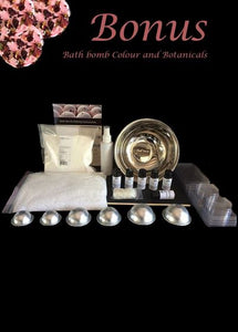 Make your own bath bombs - Deluxe Bath Bomb Making Kit with Rose Petals & Mica