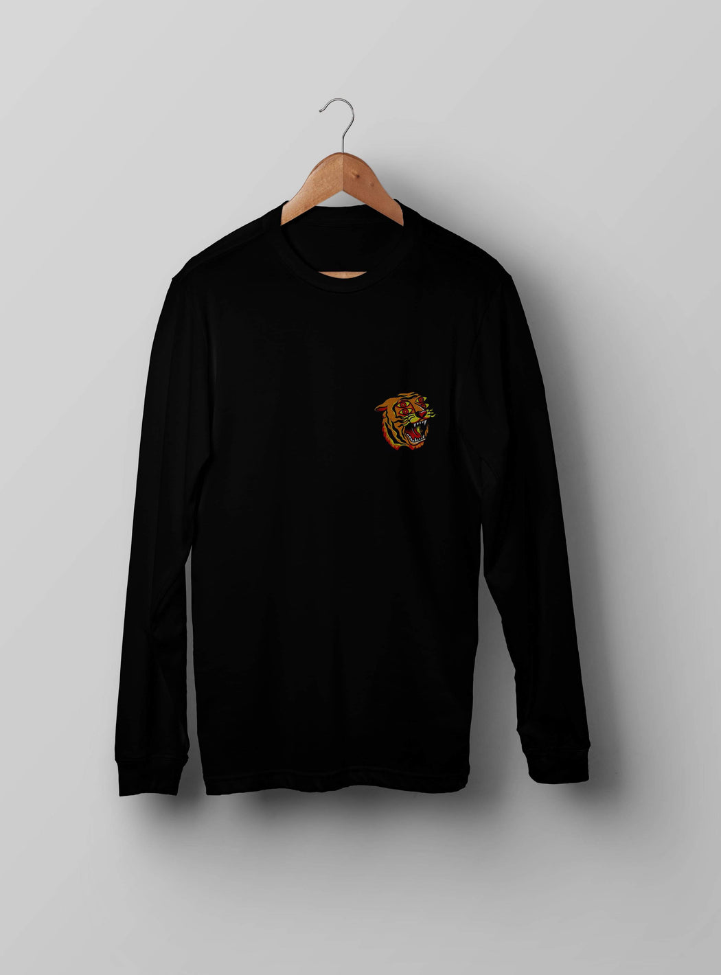 4 Eyes Tiger Black Sweatshirt - Kustom: Tees Factory