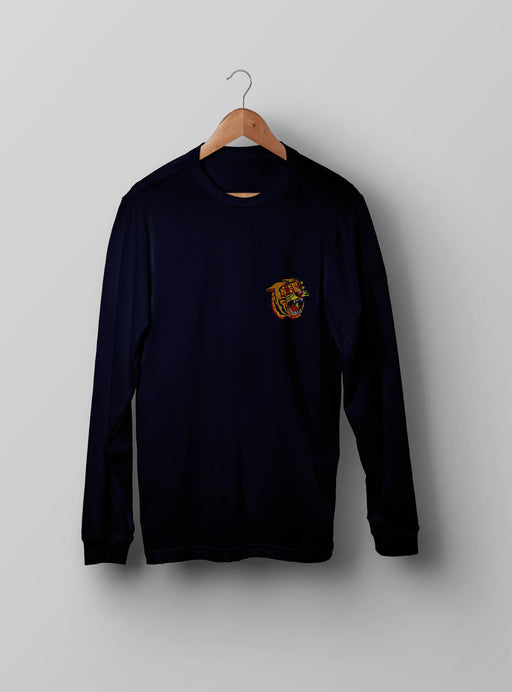 4 Eyes Tiger Navy Sweatshirt - Kustom: Tees Factory