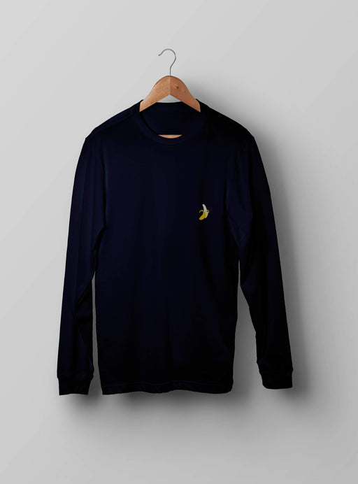 Banana Navy Sweatshirt - Kustom: Tees Factory