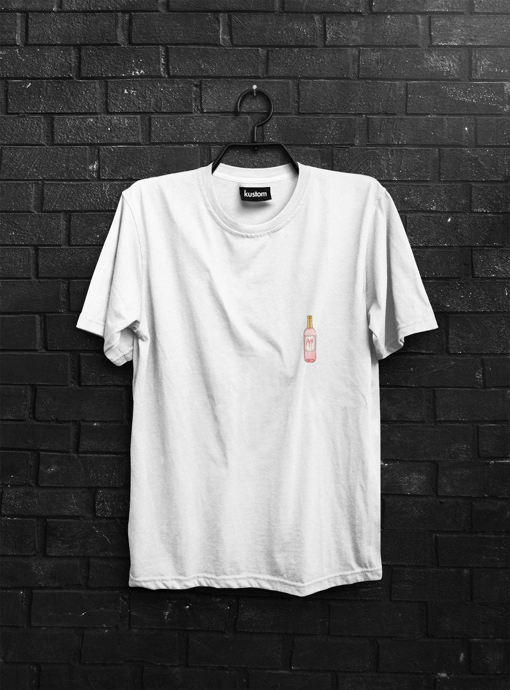 Bottle of Rosé Tee - Kustom: Tees Factory