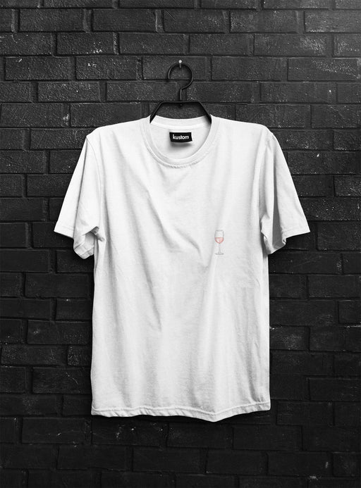 Glass of Rosé Tee - Kustom: Tees Factory