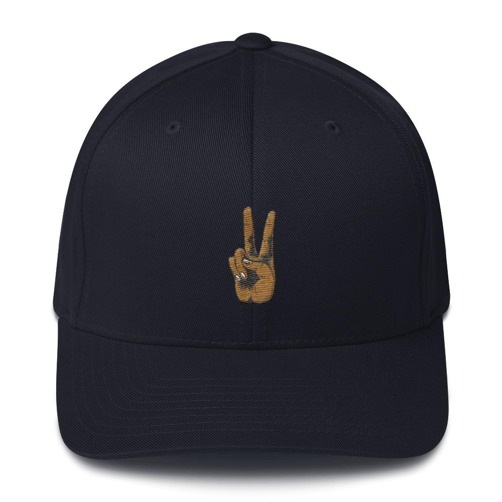Peace Hand Structured Twill Cap - Kustom: Tees Factory