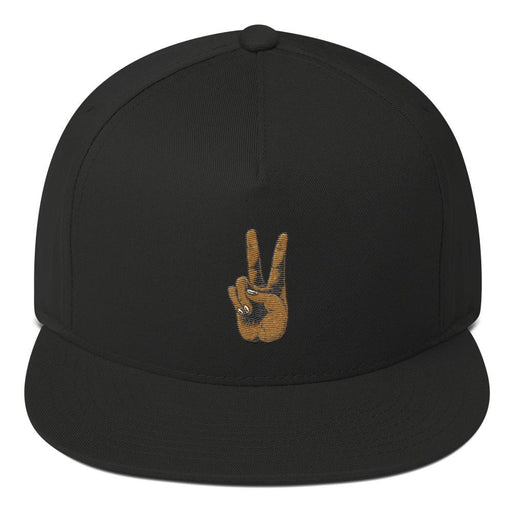 Peace Hand Flat Bill Cap - Kustom: Tees Factory