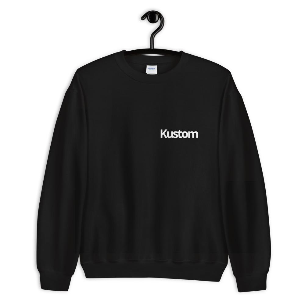 Black Kustom Sweatshirt - Kustom: Tees Factory