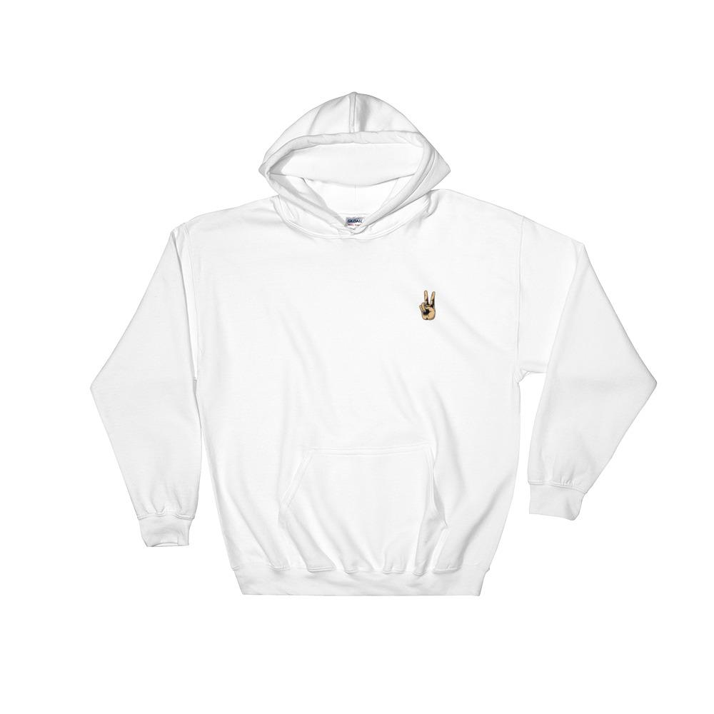 Hand Peace sign hoodie