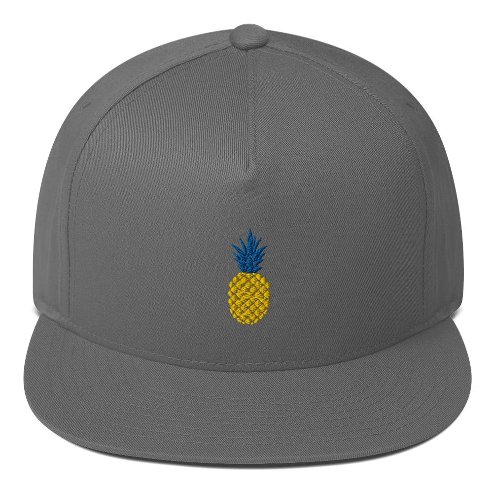 Pineapple Flat Bill Cap - Kustom: Tees Factory