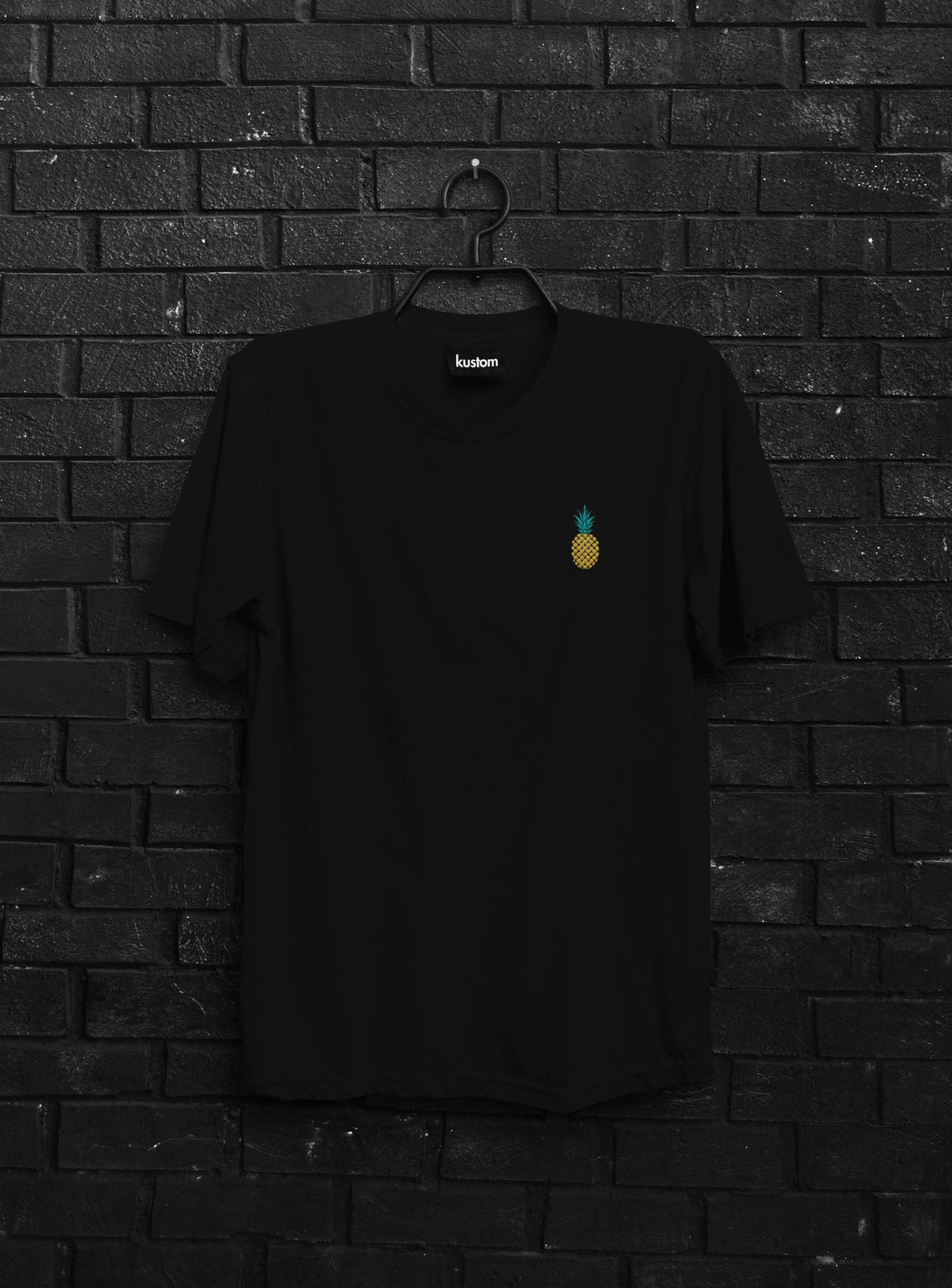 Pineapple Embroidered Tee - Kustom: Tees Factory