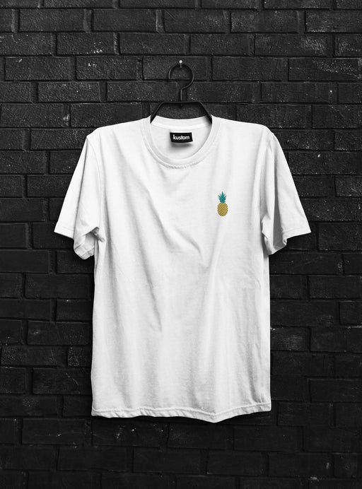 Pineapple Embroidered Tee White