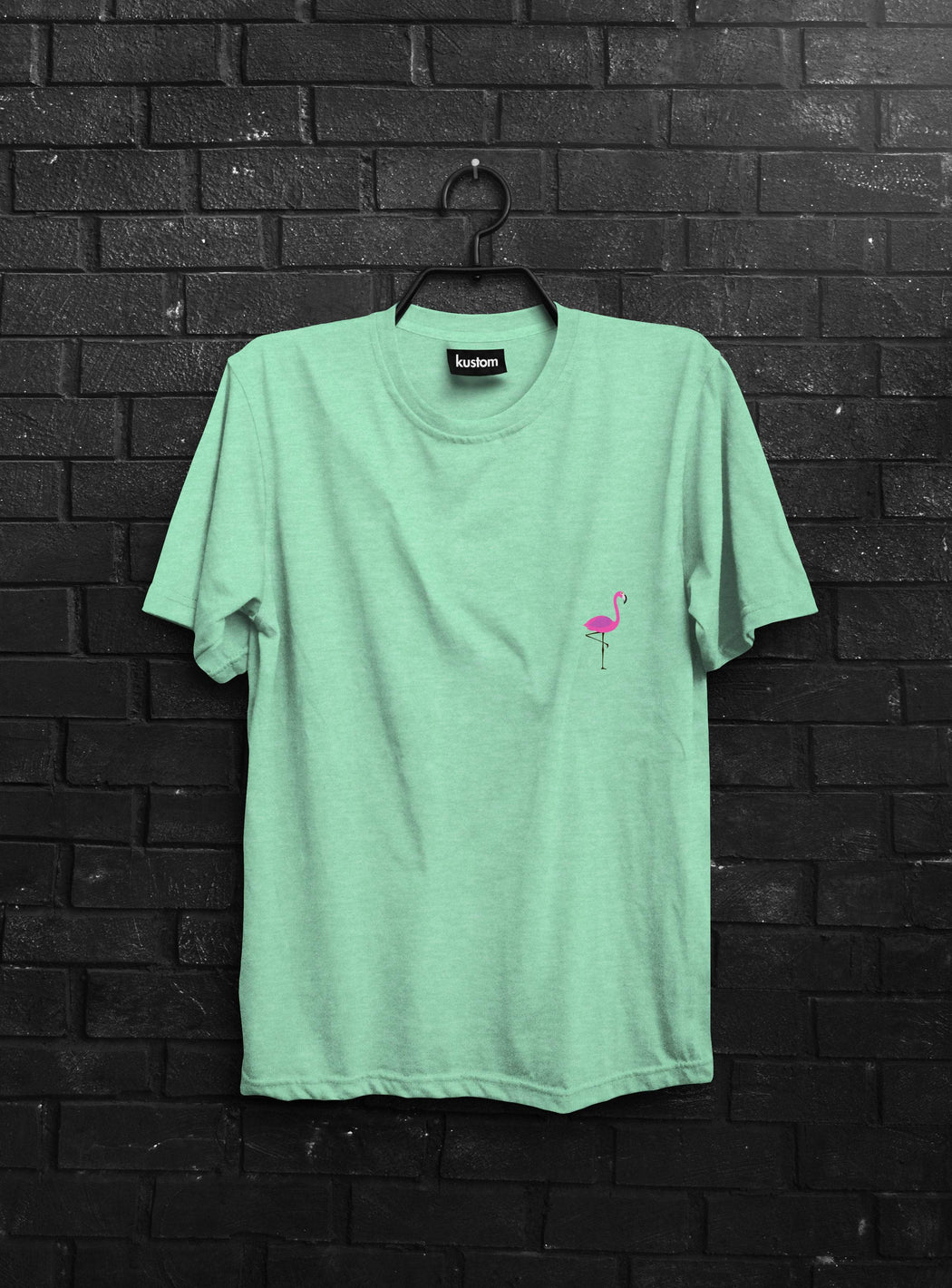 Pink Flamingo Mint Tee - Kustom: Tees Factory