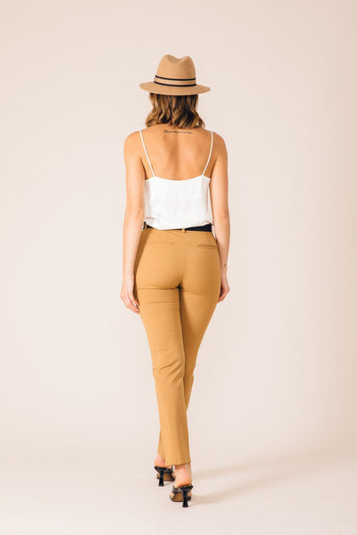 Pantalon tailleur New York Camel