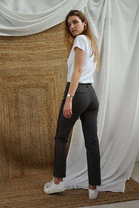 Pantalon tailleur New-York Taupe