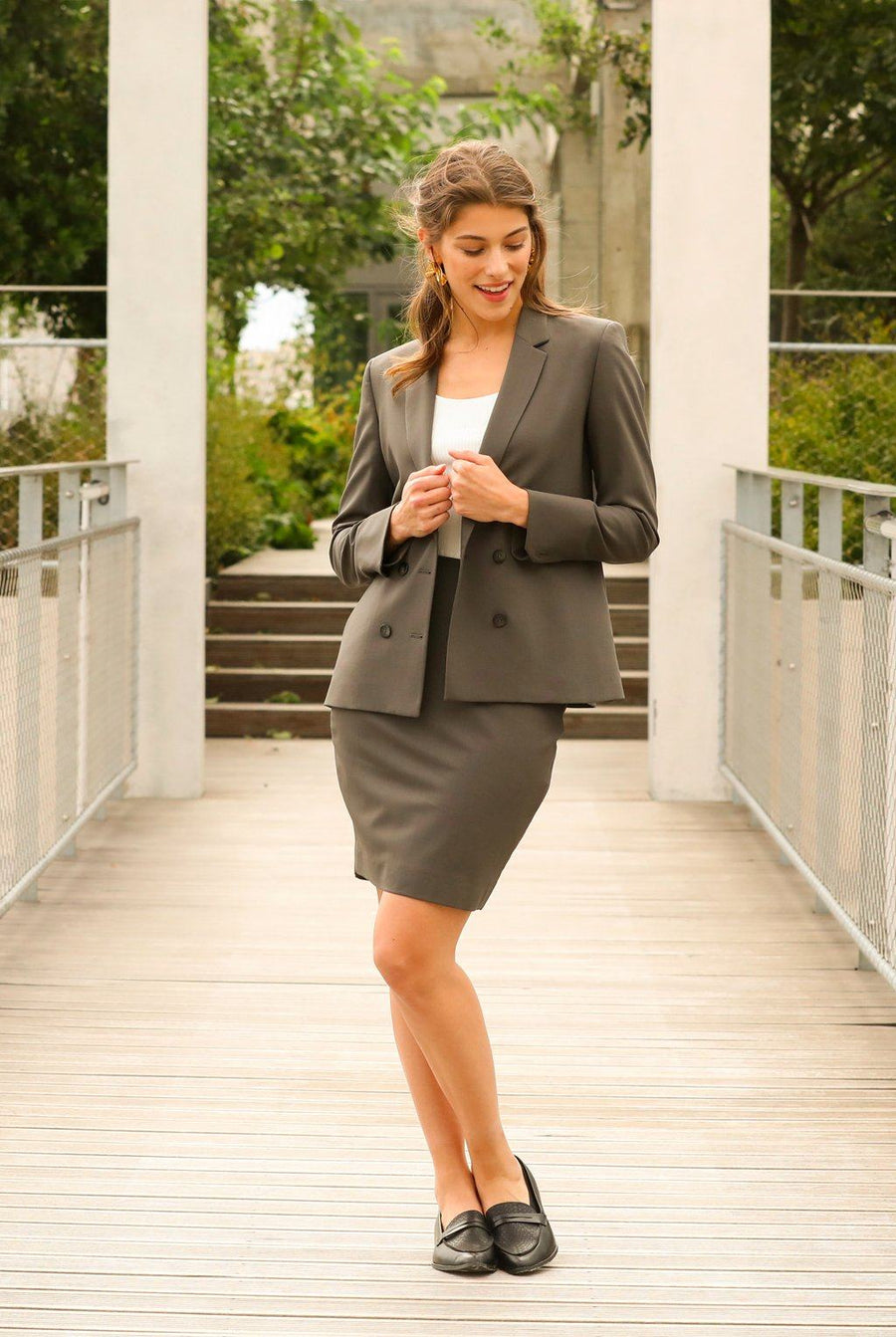 Veste tailleur Boston Taupe