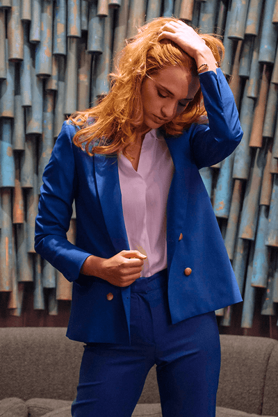 Veste tailleur Boston Bleu Royal