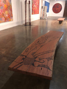Redgum Seats at Mitchelton Winery Aboriginal Art Gallery