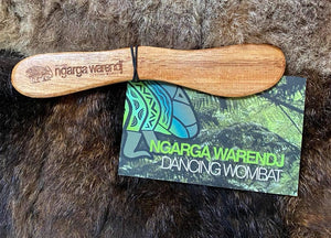 Acacia Wood Spreader / Butter / Cheese / Pate Knife  -Use with your Ngarga Warendj Board for cutting cheeses or spreading pate or fruit pastes  Measures approximately 15cm long