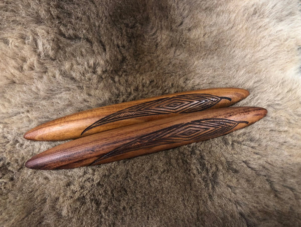 CLAPSTICKS WITH GUM LEAVES - Design 6 Ancestors