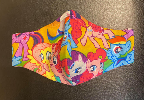 SMALL FACE MASK ALL OVER MY LITTLE PONY RAINBOW DESIGN