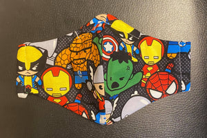 SMALL FACE MASK SUPER HEROES DESIGN