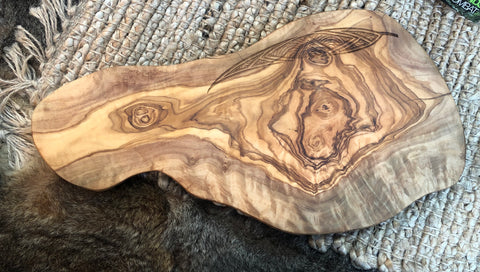 OLIVEWOOD BAGUETTE BOARD 5 - GUM LEAVES DESIGN