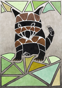 ART CARD WOMBAT 011-Ngarga Warendj