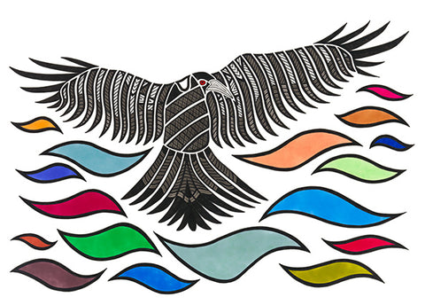 ART CARD FLYING MAGPIE 287