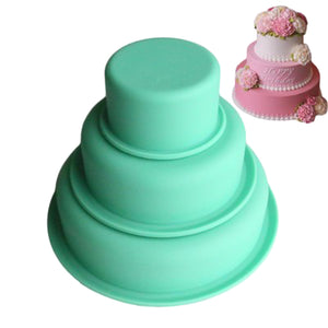 3 Layer Silicone Cake Mold