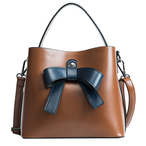 Beatrice Sweet Bow Retro Handbag Purse with Shoulder Strap
