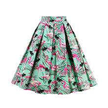 Fabulous Flamingos High Waist Retro Swing Skirt