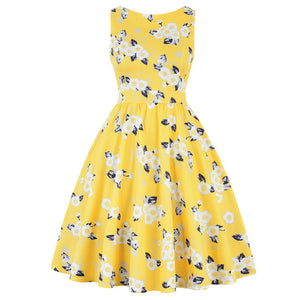 Mellow Yellow Rockabilly Swing Vintage Dress