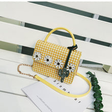 Kimberly Gingham Daisy Purse with Cactus and Crossbody Strap 3 Colors