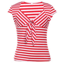 Hey Sailor Mix n Match Striped Retro Bow Tie Jersey Shirt
