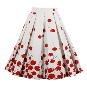 Cherries Jubilee Retro Circle Swing Skirt Plus Size