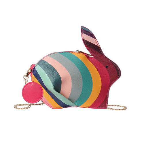Little Bunny Foo Foo Rainbow Shoulder Bag with Crossbody Chain